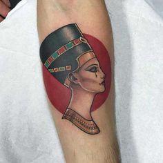 Dream Tattoos, Badass Tattoos, Future Tattoos, Body Art Tattoos, Tattoos For Guys, Sleeve Tattoos, Cleopatra Tattoo, Nefertiti Tattoo, Design Your Tattoo