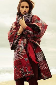 Trying to find one I can't live without...blanket/rug coat - beautiful!