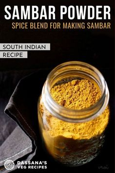 South Indian Vegetarian Recipes, South Indian Food, Indian Food Recipes, Idli Recipe, Powder Recipe, Spice Blends, Veg Recipes, Garam Masala, Chutney