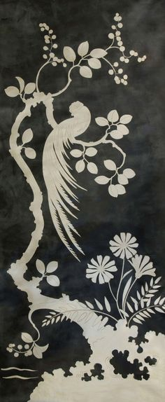 chinon | Fromental chinoiserie wallpaper black + white #drdwallpaper