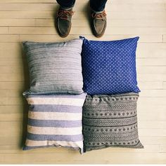 Plush throw pillows! by Stock Mfg. Co.