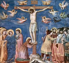 Giotto Di Bondone Scenes from the Life of Christ: Crucifixion (Cappella Scrovegni (Arena Chapel), Padua) hand painted oil painting reproduction on canvas by artist Mural Painting, Painting Prints, Art Prints, Paintings, Marie Madeleine, Renaissance Kunst, Italian Renaissance, Life Of Christ, Late Middle Ages