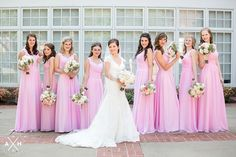 Beautiful pink bridesmaids dresses - summer Memphis wedding! #wedding #inspiration #amyhutchinsonphotography
