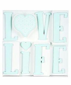 Mint Green Love Life Block Plaque - www.newlook.com