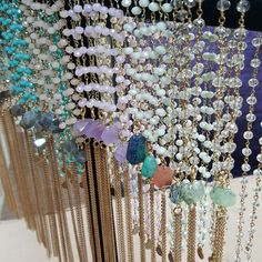 Dainty rosary style tassel necklaces