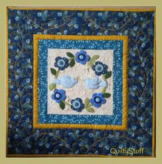 Blooming Bluebirds Applique Wall Quilt pattern $9.50 on Craftsy at http://www.craftsy.com/pattern/quilting/home-decor/blooming-bluebirds/54196