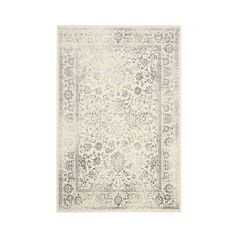 Safavieh Reid Area Rug - Ivory/Silver ($80) ❤ liked on Polyvore featuring home, rugs, cream rug, safavieh area rugs, ivory area rugs, cream colored rugs and off white rug