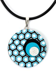 Polymer clay pendant with silver accent tutorial by Alison Gallant