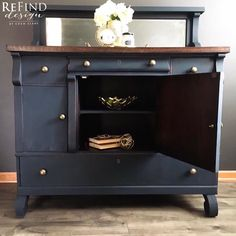 Empire Buffet with Mirror! Miss Mustard Seed Artissimo and General Finishes Java.