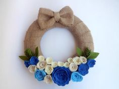 Mavi Güller Kapı Süsü