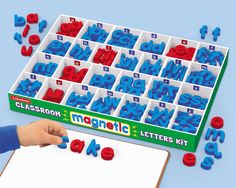 I WANT THIS!!!  It would totally work as a montessori moveable alphabet.  $39 at Lakeshore Learning.  I'm adding this to our Christmas wish list.