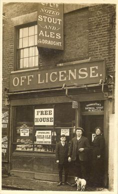 Off License, 1920, London.  We love shops and shopping. That's it - theretailpractice.com, www.facebook.com/shoppedinternational and www.twitter.com/shopped