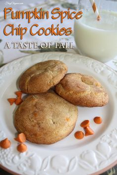 Pumpkin Spice Chip Cookies, Fall Fabulous Pumpkin Spice Chip Cookies Super Easy to Make