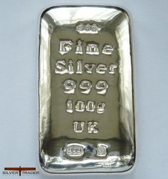100 gram Silver bullion bar (1)
