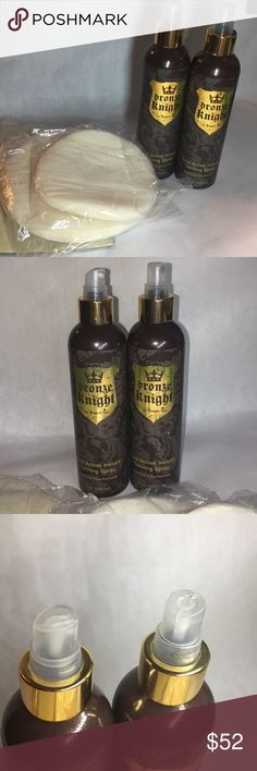 DREAM TAN BRONZE KNIGHT 2-8OZ BRONZE KNIGHT BR DREAM TAN  2-8OZ BOTTLES FULL!  New missing caps and one spray cap falls off but can be rotated from one bottle to another!  BODY BUILDERS USE THIS! GIVES AN AMAZING TAN!  BOTTLES ARE FULL COMES WITH SPONGES AND BUFFERS!  SHAVE A DAY BEFORE OR TWO TO AVOID BUMPS, IRRITATION OF SKIN! Leaves a super silky tan!  Easy to retouch!  WILL NOT SEPARATE!  Exp 5/2019 PLEASE SEE ALL PICS ASK ALL QUESTIONS! DREAM TAN /BRONZE KNIGHT Swim