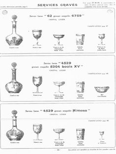 1000 images about val saint lambert others 2 on - Cristal de baccarat ancien ...