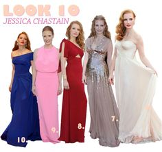 LOOK10: Jessica Chastain    por Thereza Chammas | Fashionismo       - http://modatrade.com.br/look10-jessica-chastain