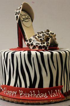 Animal Print Cake - temática despedida de soltera