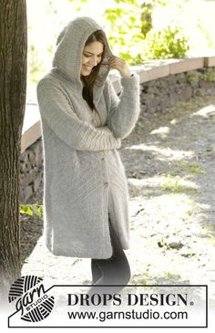 Beautiful jacket with hood to keep you warm the coming winter! Pattern now online! #knitting #aw2014