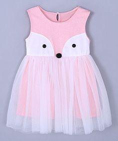 Pink Fox A-Line Dress - Toddler & Girls
