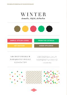 The Winter Personality | Th e Absolute Essentials of Colour Psychology | The Brand Stylist