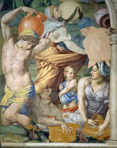 Agnolo Bronzino - The Falling of The Manna - 1540-45 - Fresco.