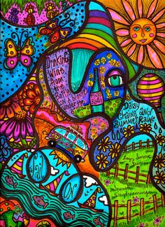 Items similar to Hippie Art, Original, Summer Dreams on Etsy