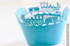 Laser Cut Lace Cupcake Wrappers  Choo Choo Train x by BacktoZero