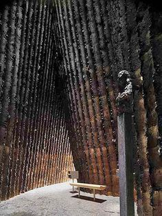 Bruder Klaus Chapel. Peter Zumthor, Mechernich, Germany. 2007
