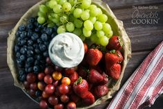 Cream Cheese Fruit Dip, perfect for getting in your daily fruit intake!