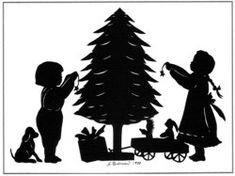 Christmas Tree Silhouettes Patterns | Greeting card designs from original hand cut silhouettes by Silhouette ...