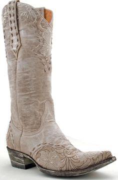 Womens Old Gringo Erin Boots Bone #L640-3 -- Bridal boots!