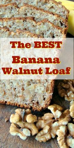 Moist Banana and Walnut Pound Loaf Cake The BEST Banana Walnut Loaf Pound Cake is a super moist, made from scratch recipe with mashed bananas and nuts. Great for breakfast, brunch or dessert. An excellent, easy banana cake Walnut Bread Recipe, Banana Walnut Bread, Walnut Recipes, Best Banana Bread, Banana Bread Recipes, Banana Walnut Cake Healthy, Banana Nut, Easy No Bake Desserts, Best Dessert Recipes