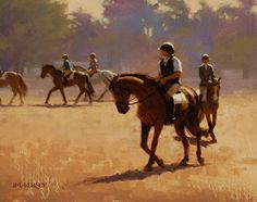 Before the Show by Laurie Kersey Oil ~ 11 x 14