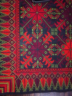 Palestinian cross stitch