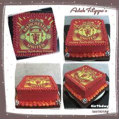 Birthday cake Manchester United edible print
