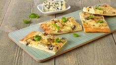 Pizza, Creme Fraiche, Pesto, Tacos, Food And Drink, Healthy Recipes, Healthy Food, Bread, Chicken
