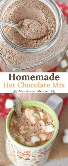 Homemade Hot Chocolate Mix makes a rich, creamy cup of delicious hot cocoa. Easy… Homemade Hot Chocolate Mix makes a rich, creamy cup of delicious hot cocoa. Easy to make in about 5 minutes and makes a yummy gift idea! Hot Chocolate Recipe Easy, Healthy Hot Chocolate, Hot Chocolate Bars, Chocolate Gifts, Homemade Hot Cocoa Recipe, Homemade Hot Chocolate Mix Gift, Hot Cocoa Recipe Microwave, Hot Cocoa Mix Recipe In A Jar, Hot Cocoa Mixes