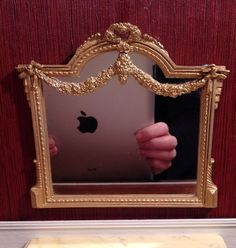 Sue Cook - Victorian gold painted mirror; sold on ebay for $49.99