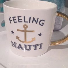 For all our nautical nuts! A perfect mug for the beach! Anchors away, ladies! For all our nautical nuts! A perfect mug for the beach! Boat Captions, Ig Captions, Picture Captions, Anchor Quotes, Nautical Quotes, Photo Quotes, Me Quotes, Beach Quotes, Beach Sayings