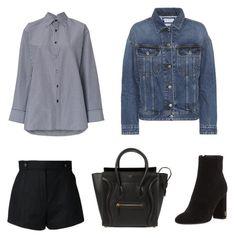 """Jennie Kim Airport Style Similar"" by zsaraissa ❤ liked on Polyvore featuring Balenciaga, Yves Saint Laurent, Courrèges, Acne Studios and CÉLINE"