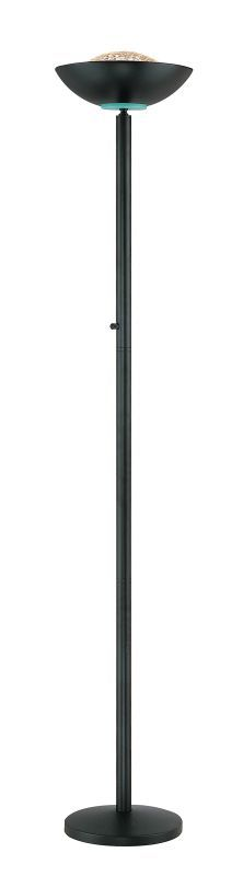 Lite Source LS-80910 Halogen Torchiere Lamp from the Basic II Collection Black Lamps Floor Lamps Torchiere Lamps