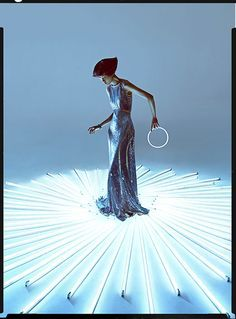 """Digital Art - Inspired by the film """"Tron"""", Charles Guo captures Wang Xiao in an elaborate, futuristic set wearing fashion forward style for Harper's Bazaar China Art. Stylist Shao Jia selects a wardrobe featuring Artistic Fashion Photography, Fashion Photography Inspiration, Editorial Photography, Art Photography, Travel Photography, Forest Photography, Photography Lighting, Photography Editing, Foto Fashion"""