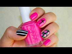 Brandy Melville Inspired Nail Tutorial - YouTube