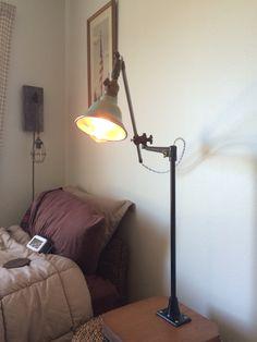 O.C. White 1920's I restored Vintage Light Fixtures, Vintage Lighting, Desk Lamp, Table Lamp, Steampunk Lamp, Lamps, Restoration, Home Decor, Lightbulbs