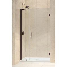 Dreamline Unidoor 42-In To 43-In Frameless Hinged Shower Door Shdr-204