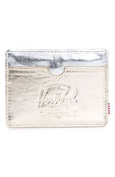 Herschel Supply Co. 'Charlie' Metallic Faux Leather Card Holder available at #Nordstrom