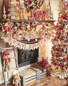 For Christmas decorations, the most important part is your fireplace mantel. Listed below are Best Christmas mantel decor ideas for you. Without delay let us check out these Christmas Fire Place Decors that will surely get you inspired. Mickey Christmas, Christmas Love, Rustic Christmas, Christmas Crafts, Christmas Decorations, Holiday Decor, Gingerbread Decorations, Christmas Countdown, Christmas Lights