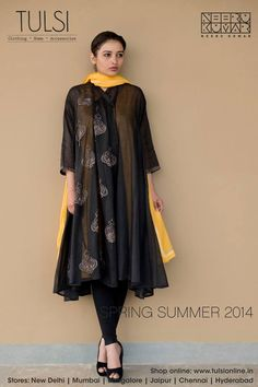 Cotton Choga with embroidery available at Tulsi online. Shop for the Spring Summer collection