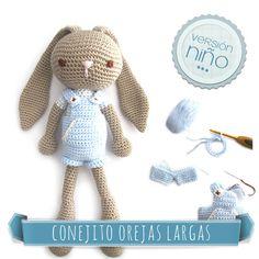 Mesmerizing Crochet an Amigurumi Rabbit Ideas. Lovely Crochet an Amigurumi Rabbit Ideas. Crochet Diy, Easy Crochet Projects, Crochet For Boys, Knitted Dolls, Crochet Dolls, Crochet Patterns Amigurumi, Amigurumi Doll, Crochet Turtle, Crochet Rabbit